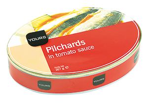 Pilchards Harengs 1/2 Ovale