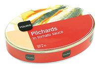 Herrings Pilchards 1/2 Ovale